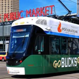 Wrapped streetcar